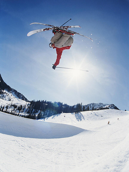 258 75012m Trick Skiing Mural