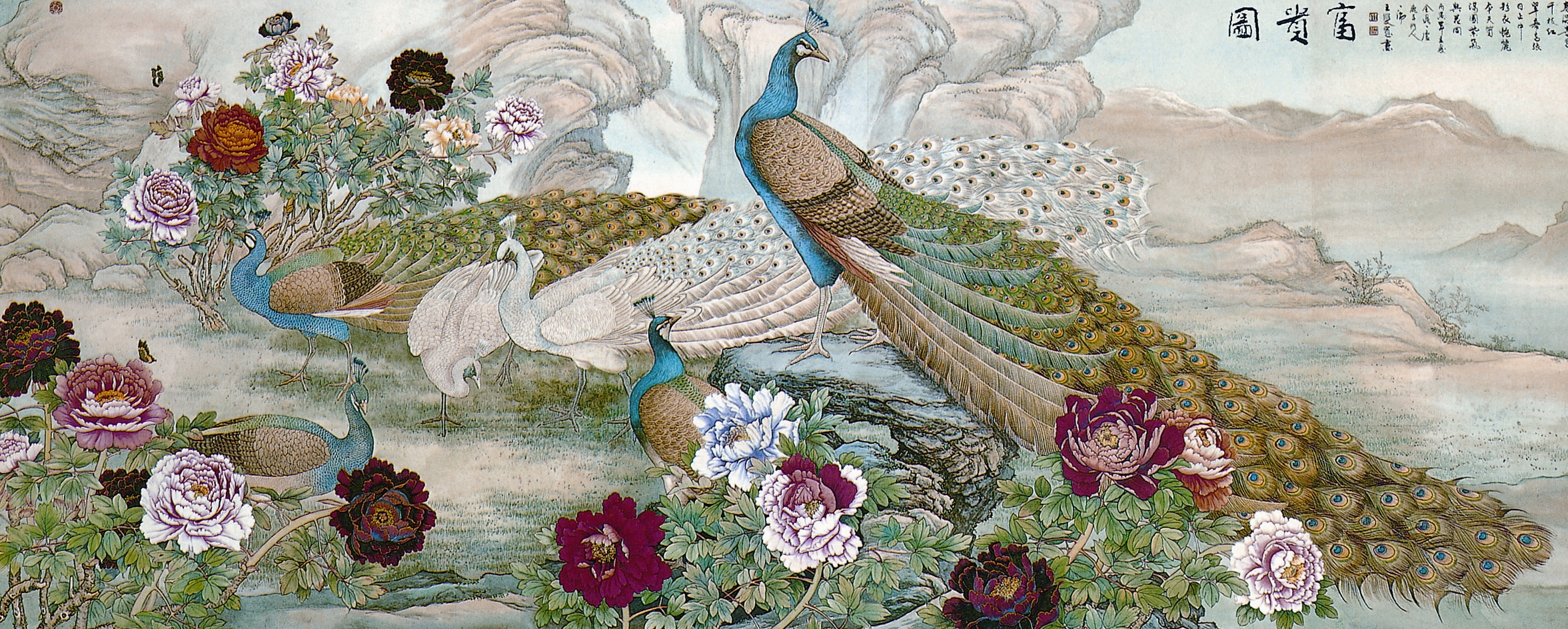 Peacocks wall mural for Mural alternatywy 4