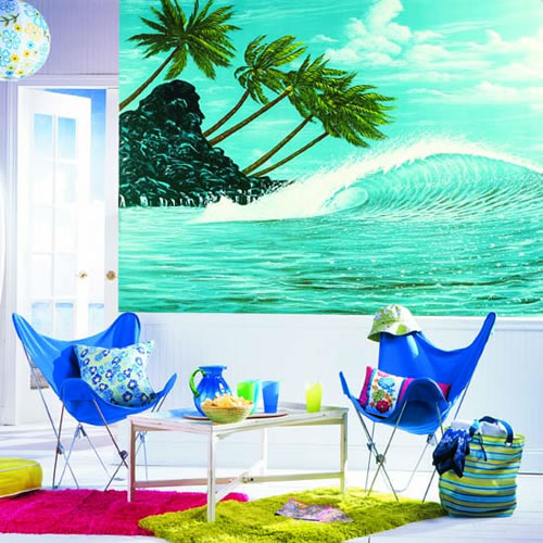 Hang Ten Chair Rail Mural RA0122M